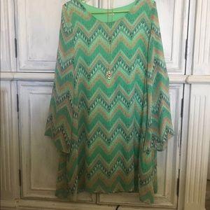 Tribal Print Green Dress from Nordstrom Rack